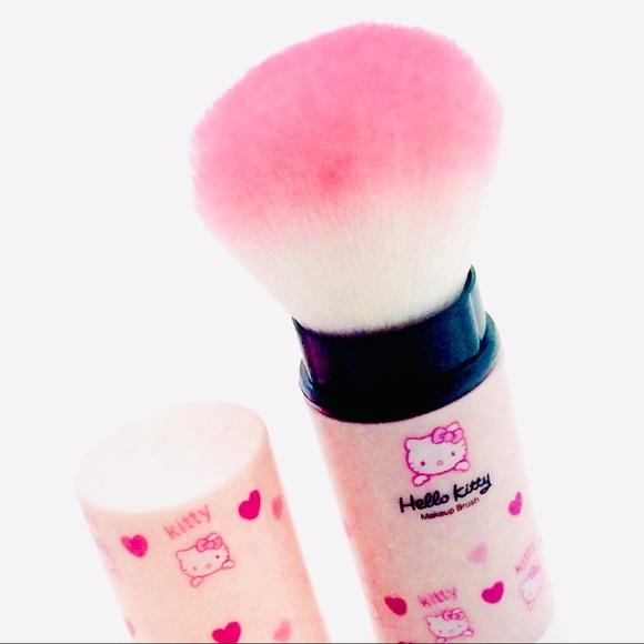 085626250 Hello Kitty Makeup | Retractable Kabuki Style Brush Pink | Poshmark